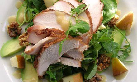 Warm Sweet, Salty & Smoky Chicken Salad